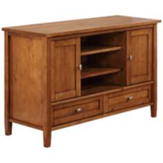 Warm Shaker Honey Brown Wood TV Stand