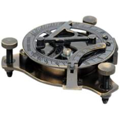 Medium Sundial Compass in Wood Box
