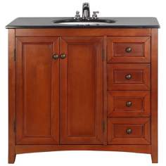 "Yorkville 36"" Wide Cinnamon Brown Single Sink Vanity"