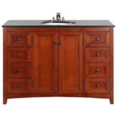 "Yorkville 48"" Wide Cinnamon Brown Single Sink Vanity"