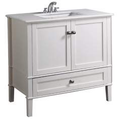 "Chelsea 36"" Wide Soft White Single Sink Vanity"