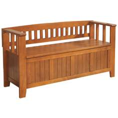 Acadian Light Brown Entryway Bench