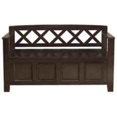 Amherst Dark Brown Entryway Bench