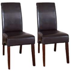 Set of 2 Avalon Deluxe Parsons Dining Chairs