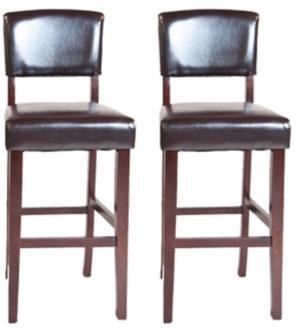 Set of 2 AvalonEspresso  Bar Stools i (Y6540)