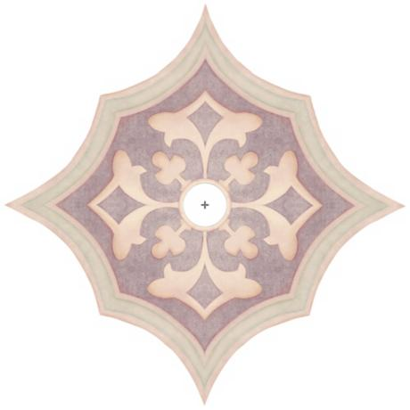 "Alzira Giclee 36"" Wide Repositionable Ceiling Medallion"