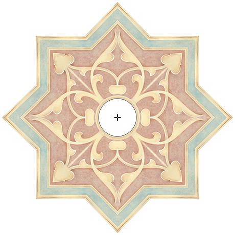 "Seville Giclee 24"" Wide Repositionable Ceiling Medallion"