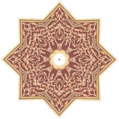 "Moroccan Scroll 36"" Wide Repositionable Ceiling Medallion"