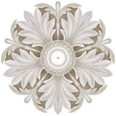 "Acanthus Round 36"" Wide Repositionable Ceiling Medallion"