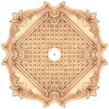 "Essex Square 36"" Wide Repositionable Ceiling Medallion"