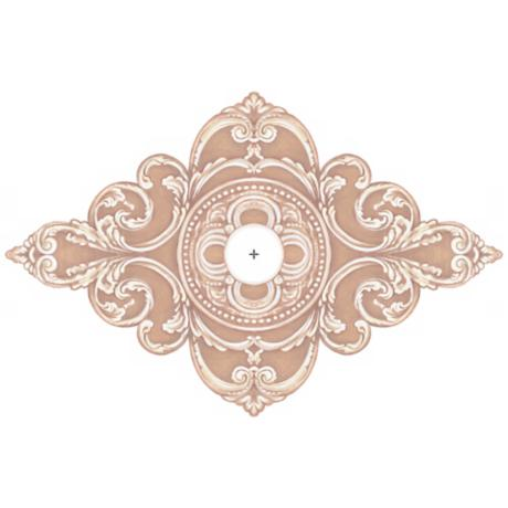 "Florentine Giclee 36"" Wide Repositionable Ceiling Medallion"