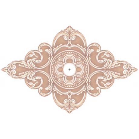 "Florentine Giclee 48"" Wide Repositionable Ceiling Medallion"