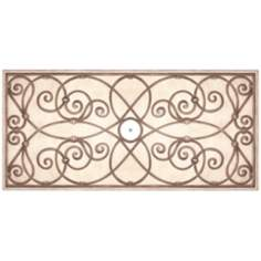 "Jardin Dark 48"" Wide Repositionable Ceiling Medallion"