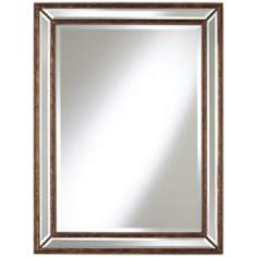 "Uttermost Beaded 40"" High Bronze Wall Mirror"