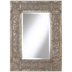 "Uttermost Harvest Serenity 40 1/4"" High Tin Wall Mirror"