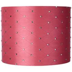 Pink Rhinestone Drum Lamp Shade 14x14x11 (Spider)