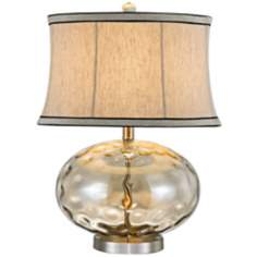 Fiona Stone Pattern Champagne Glass Table Lamp