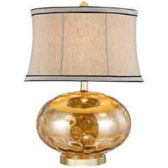 Fiona Stone Pattern Gold Glass Table Lamp