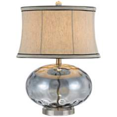 Fiona Stone Pattern Light Blue Glass Table Lamp