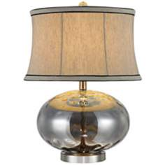 Jasmine Twisted Pattern Champagne Glass Table Lamp