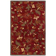 Botanique 1180 Morgan Crimson Floral Area Rug