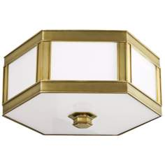 "Nassau Aged Brass 16"" Wide Ceiling Light"