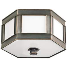 "Nassau Old Bronze 16"" Wide Ceiling Light"