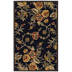 Botanique 1309 Bailey Black Floral Area Rug