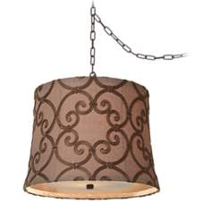 "Dyer Bronze 16"" Wide Leiden Taupe Swag Chandelier"