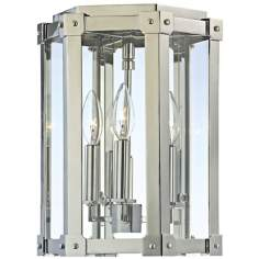 "Roxbury 13 1/4"" High Polished Nickel Ceiling Light"