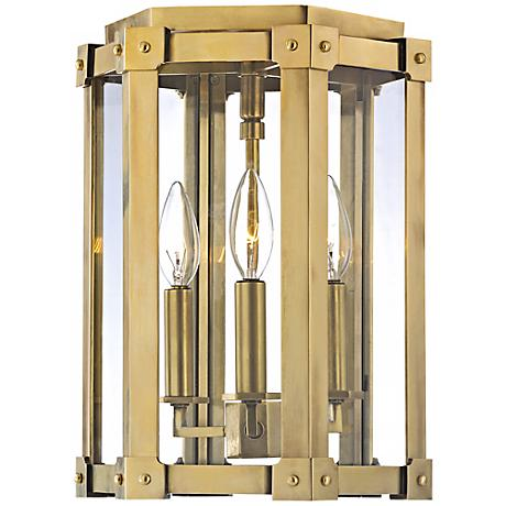 "Roxbury 13 1/4"" High Aged Brass Ceiling Light"