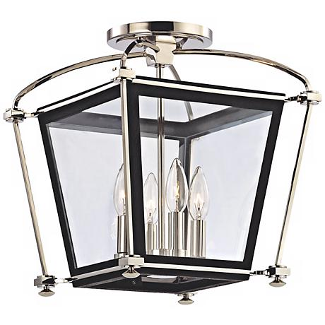 "Hollis 14 3/4"" High Polished Nickel Ceiling Light"