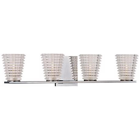 "Conway 26 1/4"" Wide 4-Light Polished Chrome Bath Bar"