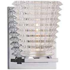 "Conway 5 3/4"" High Polished Chrome Wall Sconce"