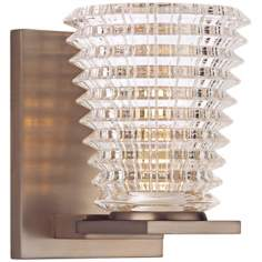 "Conway 5 3/4"" High Brushed Bronze Wall Sconce"