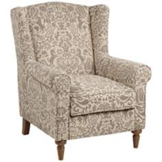 Elizabeth Gray Wingback Chair