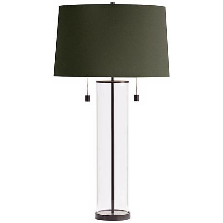 "Arteriors Home 40"" Savannah Glass and Iron Lamp"