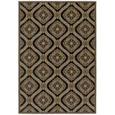 Dolce 4075 Napoli Gold and Black Area Rug