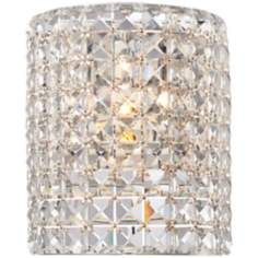 "Crystal Wrap 8 3/4"" High Wall Sconce"