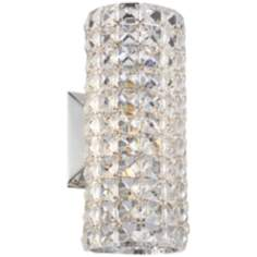 "Crystal Cylinder 10 1/4"" High Wall Sconce"