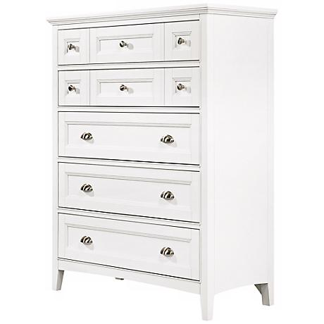 Kentwood 5-Drawer White Chest