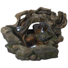 "Tree Trunk 19"" High LED Indoor - Outdoor Fountain"
