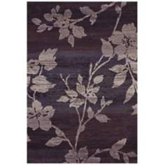 Easton 6383 Sakura Vine Lavender-Grey Area Rug
