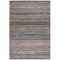 Easton 6454 Vibrato Tan-Teal Striped Area Rug