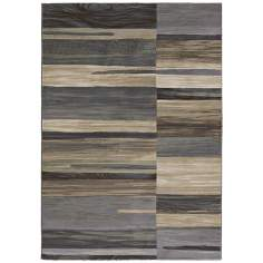 Easton 6575 Synchrony Tan-Teal Modern Area Rug