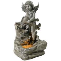 "Angel 26 1/2"" High LED Indoor - Outdoor Fountain"
