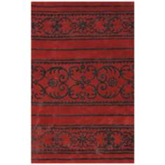 Amber Collection 707 Red/Black Area Rug