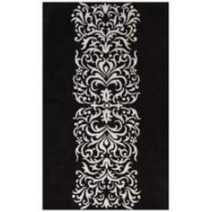 Amber Collection 708 Black/Silver Area Rug