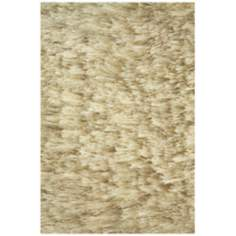 Crystal Collection 2502 Cream Shag Area Rug