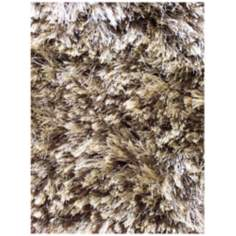 Crystal Collection 2506 Brown Shag Area Rug